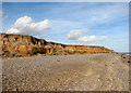 TM5383 : Beach and cliffs between Benacre Broad and Kessingland by Evelyn Simak