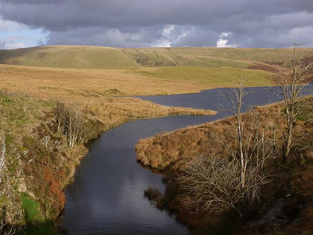 The western arm of Craig Goch reservoir
