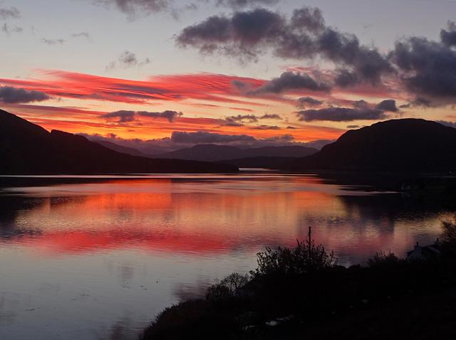 Sunrise over Loch na Cairidh