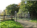 TM5184 : Gated entrance to Benacre Hall by Adrian S Pye