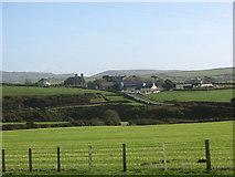 SH1727 : Fferm Bodernabwy and Eglwys Newydd from Fferm Gwythrian by Eric Jones