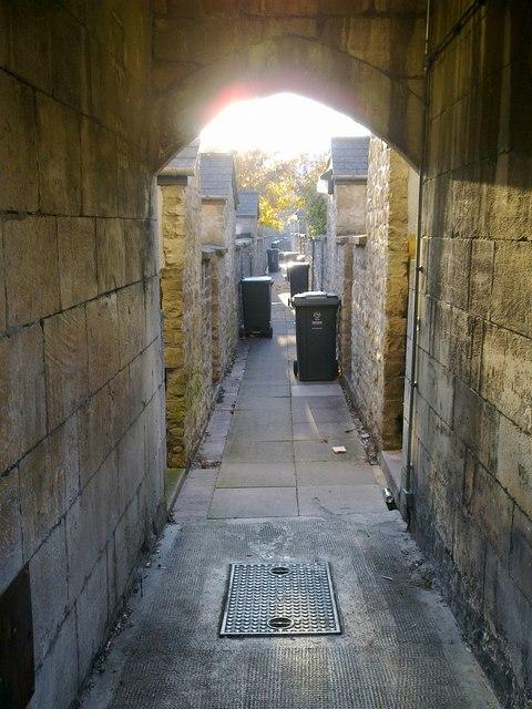 Alley between London Street and Oxford Street, Swindon
