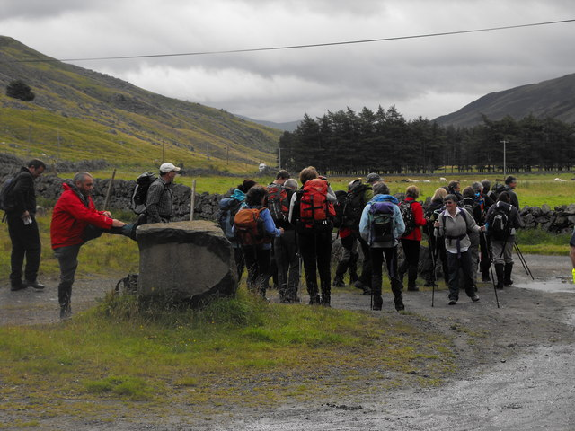 Saturday walkers, Glen Clova