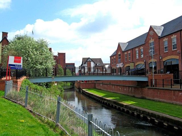 Footbridge over the River Sow (1)