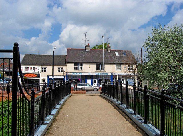 Footbridge over the River Sow (2)
