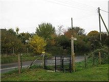 TR2648 : Kissing Gate on Eythorne Road by David Anstiss