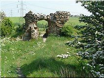 SE2525 : Ruins of Howley Hall, Morley by Humphrey Bolton