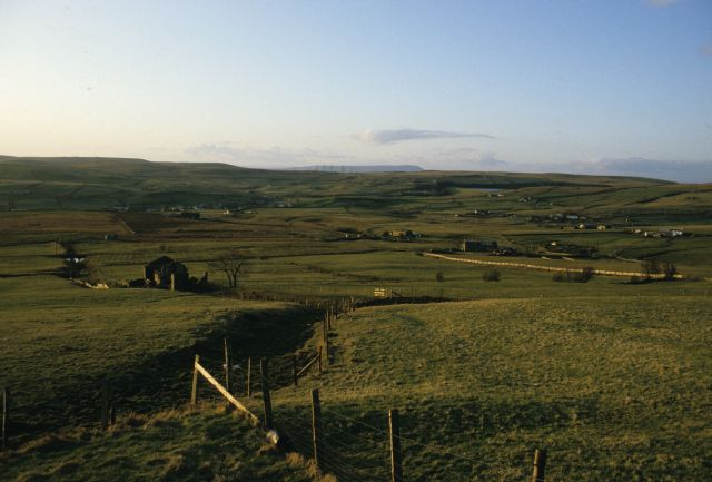 View looking north from Far Bank End Farm