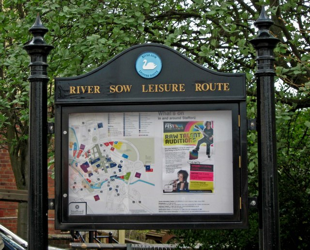 River Sow Leisure Route information board