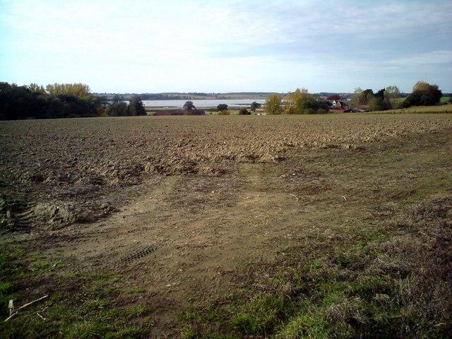 Farmland near Stratton Hall