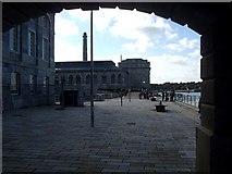 SX4653 : Royal William Victualling Yard : Northwestern waterfront by Rob Farrow