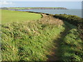 SX0652 : Coast path by Carlyon golf course by Philip Halling