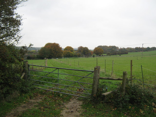 North Downs Way stile on Moon Hill