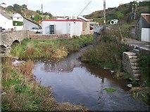 SH1726 : The confluence of Afon Cyllyfelin and Afon Daron at Aberdaron by Eric Jones