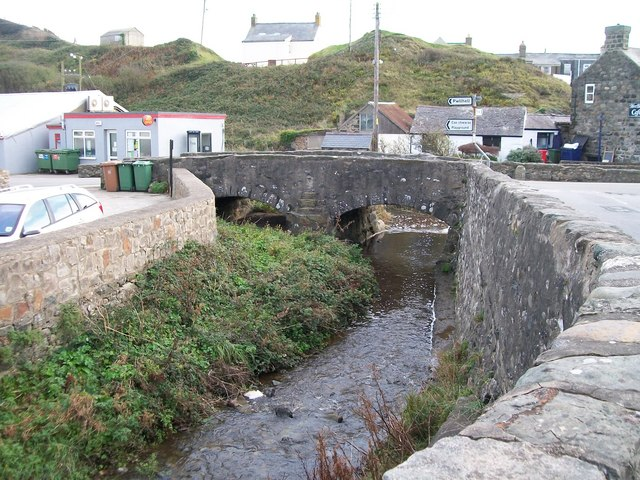 Afon Cyllyfelin just above its confluence of Afon Daron at the centre of Aberdaron