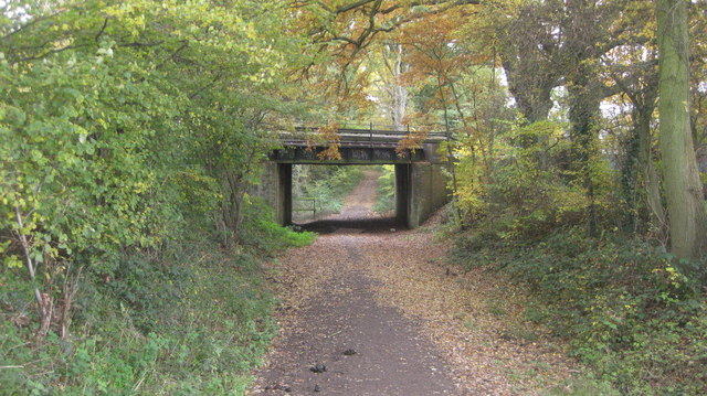 Railway bridge carrying the line to Guildford via Cobham
