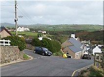 SH1726 : Steep hill descending into Aberdaron from the direction of Dwyros by Eric Jones