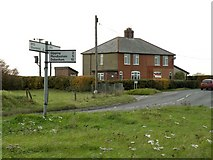 TM0461 : A road junction on the B1113, close to Old Newton by Robert Edwards