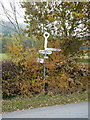 SJ6206 : Signpost near Bank Farm by Richard Law