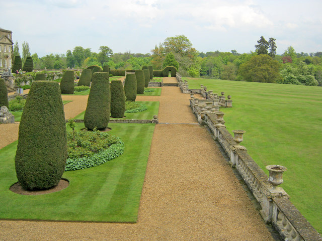 The terraced gardens at Bowood