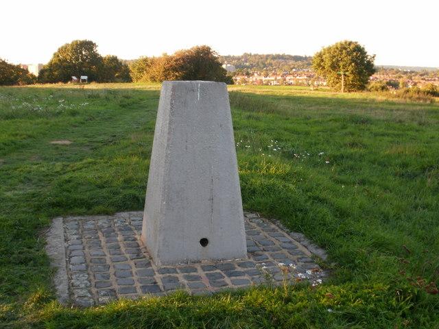 Triangulation pillar at the top of Horsenden Hill
