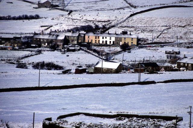 Dean Lane in snow