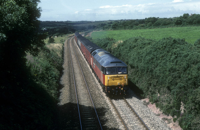 Mail train between Chacewater and Truro