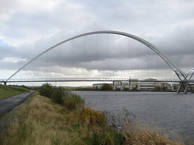 Teesdale Way approaching Infinity Bridge
