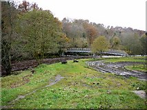 NY7962 : Footbridge at Plankey Mill by Andrew Curtis