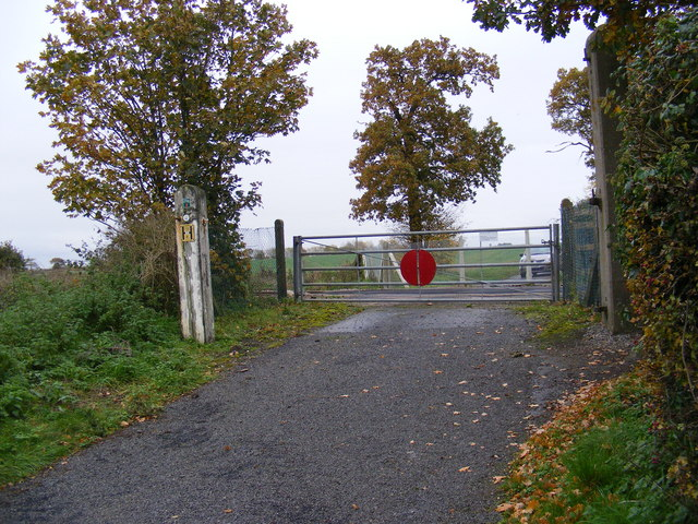 The former Millpost Level Crossing