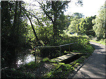 SP1866 : Footbridge at Rookery Lane ford by Robin Stott