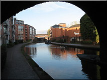 SP0586 : Birmingham Main Line - view from under Sheepcote St. bridge by Gareth James