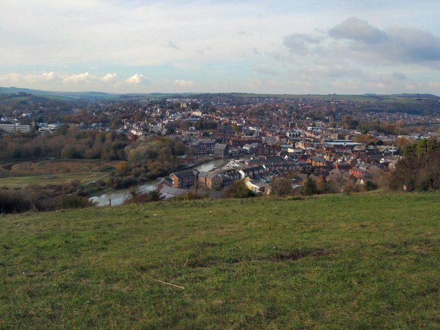 Looking down on Lewes