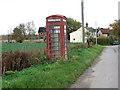 TM1987 : K6 telephone box in Colegate End by Evelyn Simak