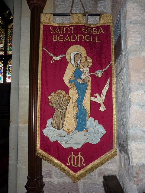 St Ebba Church, Beadnell, Banner
