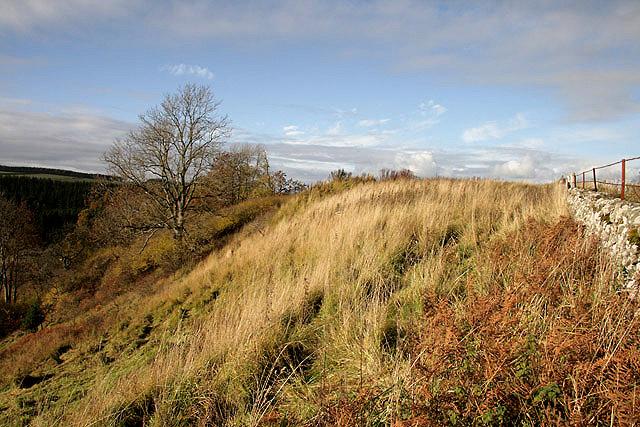 The site of Bedrule Castle