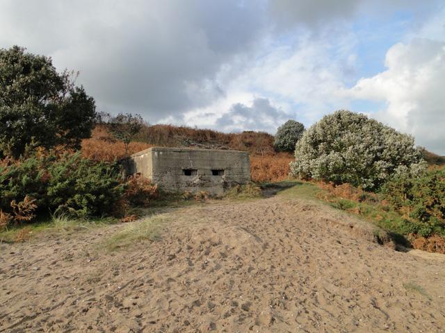 Pillbox on the cliff at Corton