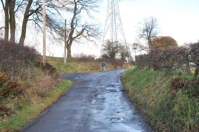 Minor road near Fluchter