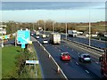 TL0228 : Northbound on the M1 by Mary and Angus Hogg