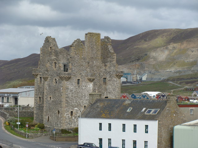 Scalloway Castle from the dock