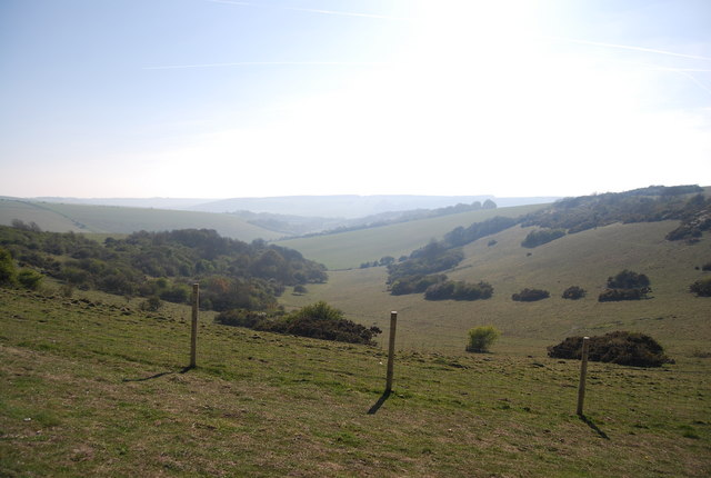 Dry valley from Combe Hill