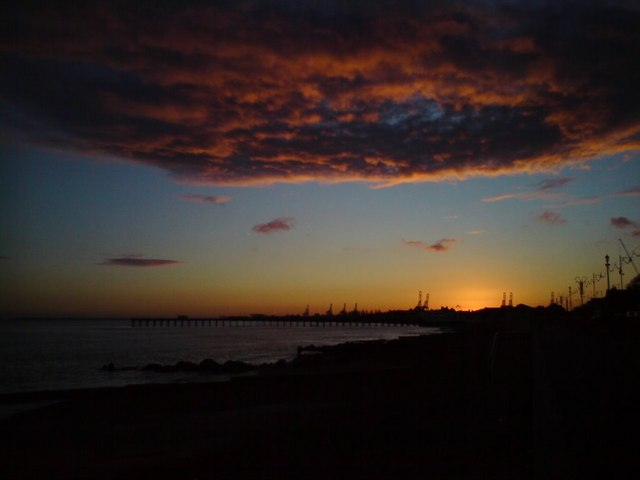 Felixstowe At Sunset