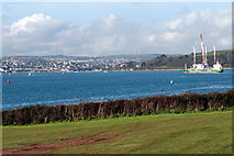 SW8332 : Falmouth Harbour from St. Mawes Castle car park by Fred James