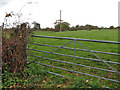 TM1185 : Public footpath across pasture by Evelyn Simak