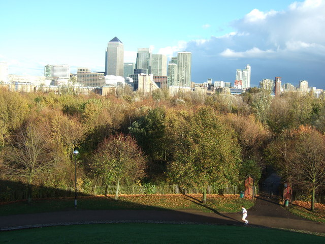 A view from Stave Hill, Rotherhithe, London