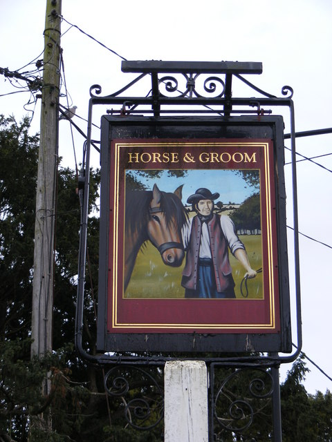 The former Horse & Groom Public House sign