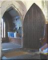TQ3461 : All Saints church, Sanderstead: ancient door by Stephen Craven