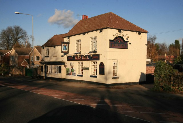 Low sun on the Blue bell Pub