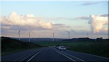 SK5758 : Lindhurst wind farm by Lynne Kirton