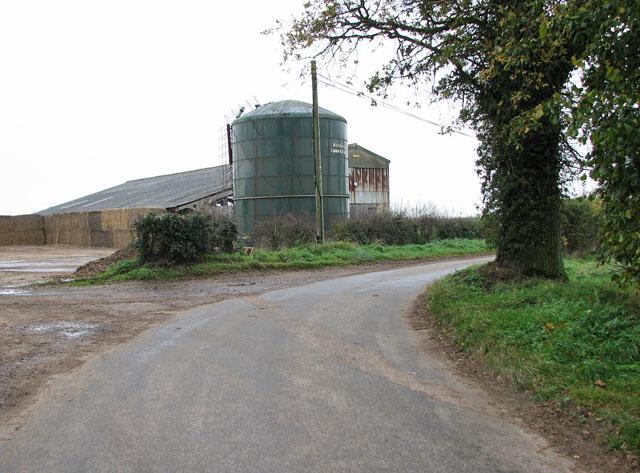 Hall Road past Old Hall Farm, Flaxlands